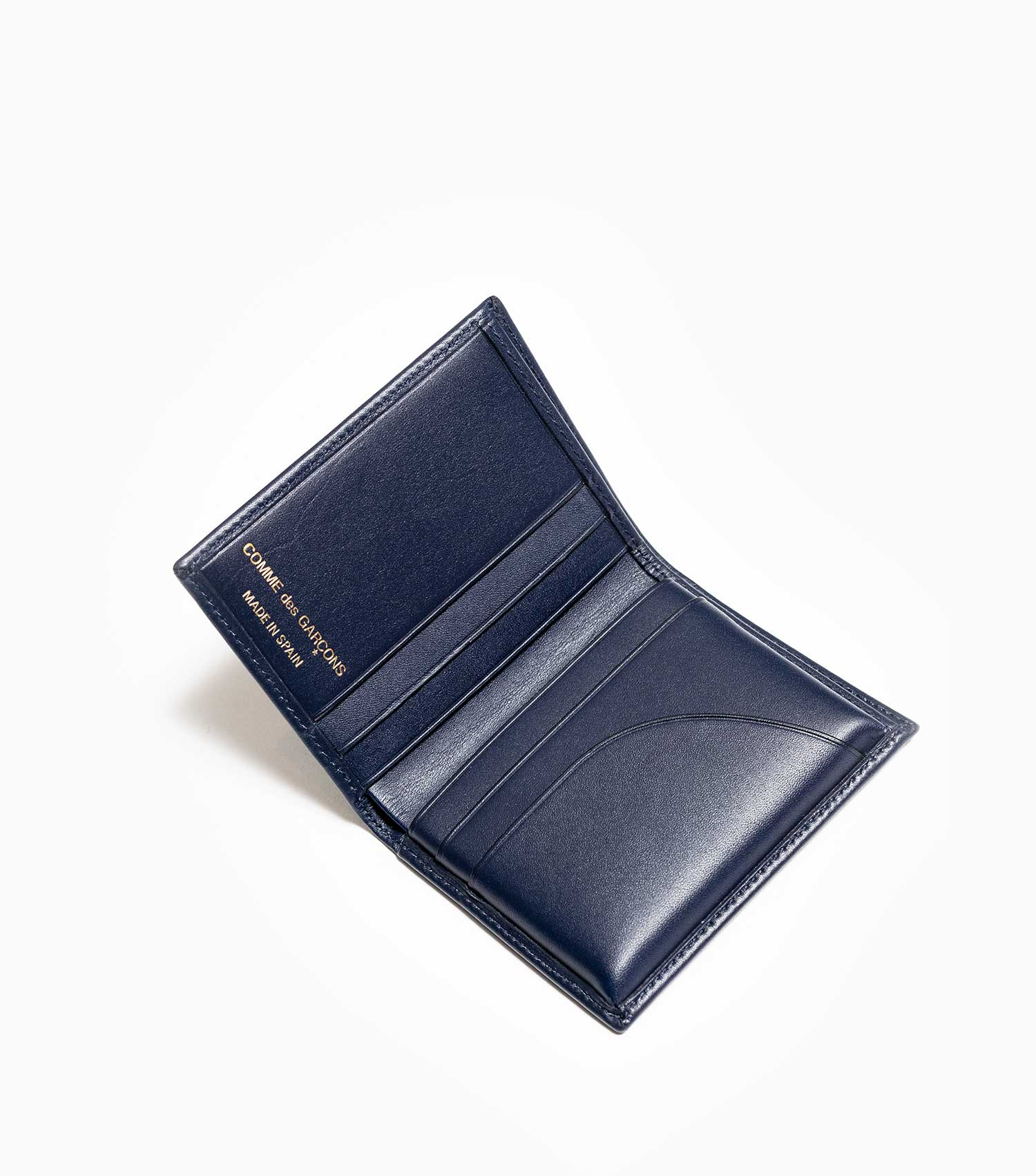 Comme des Garçons Classic Leather Line A Wallet SA0641 - Navy Wallet - CARTOCON