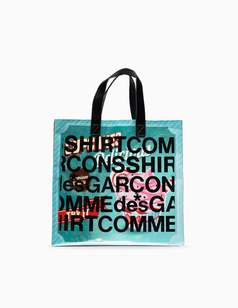 Comme Des Garcons Shirt SS20 Printed Shopping Bag - Multi Bag - CARTOCON