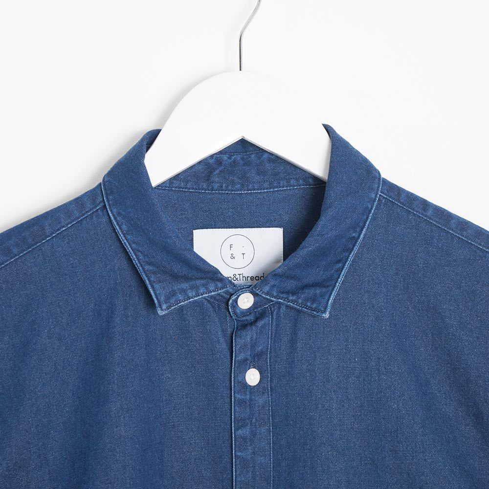 Form & Thread Essential Shirt - Indigo Denim - 2