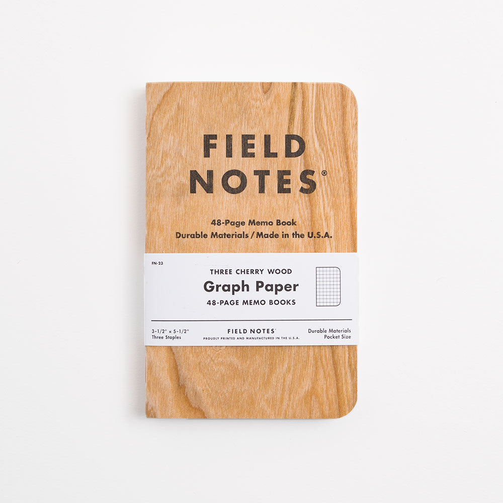 Field Notes 3-pack Notebooks - Cherry Graph Edition - 2