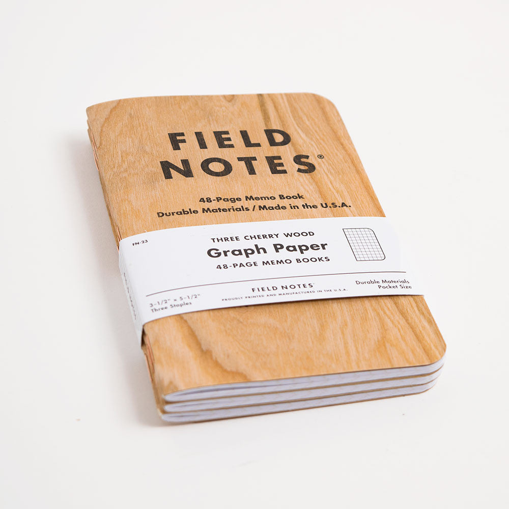 Field Notes 3-pack Notebooks - Cherry Graph Edition - 3