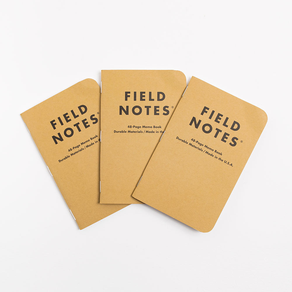 Field Notes Original kraft Notebooks - Plain 3 Pack