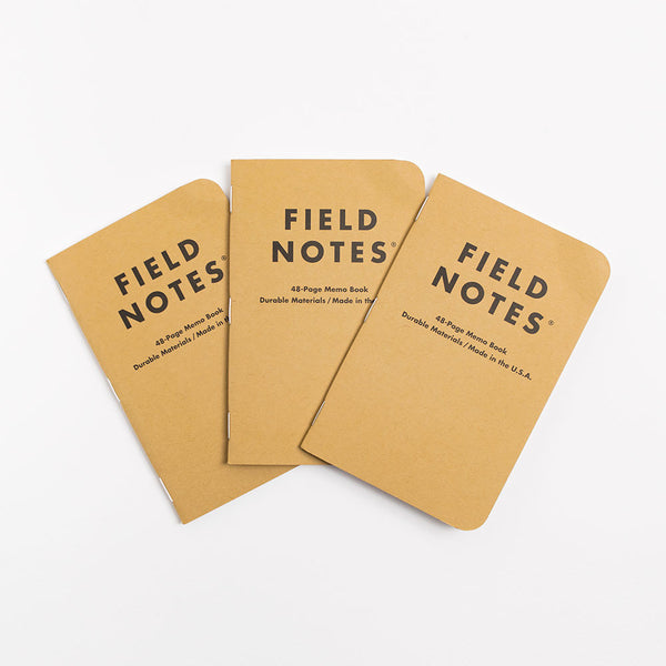 Field Notes Original kraft Notebooks - Ruled 3 Pack - 1