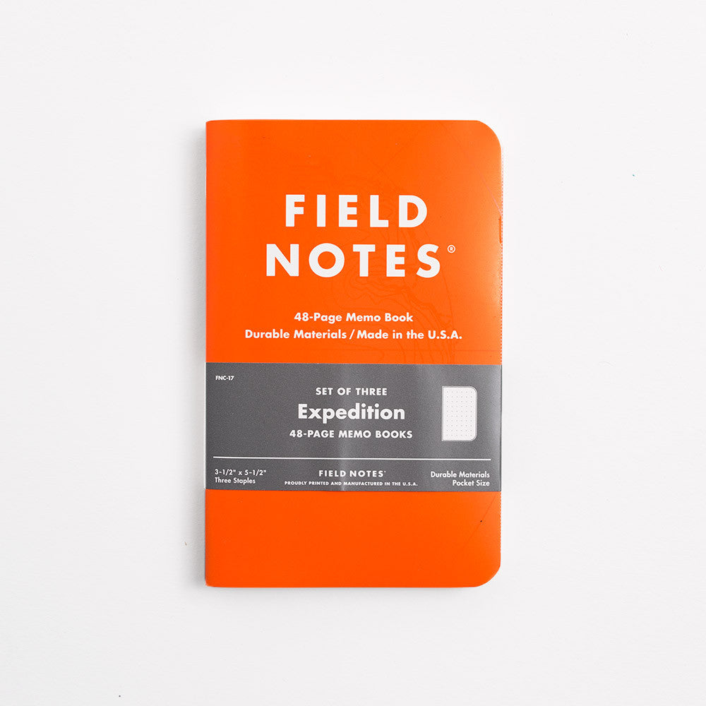 Field Notes 3-pack Notebooks - Expedition Edition - 2