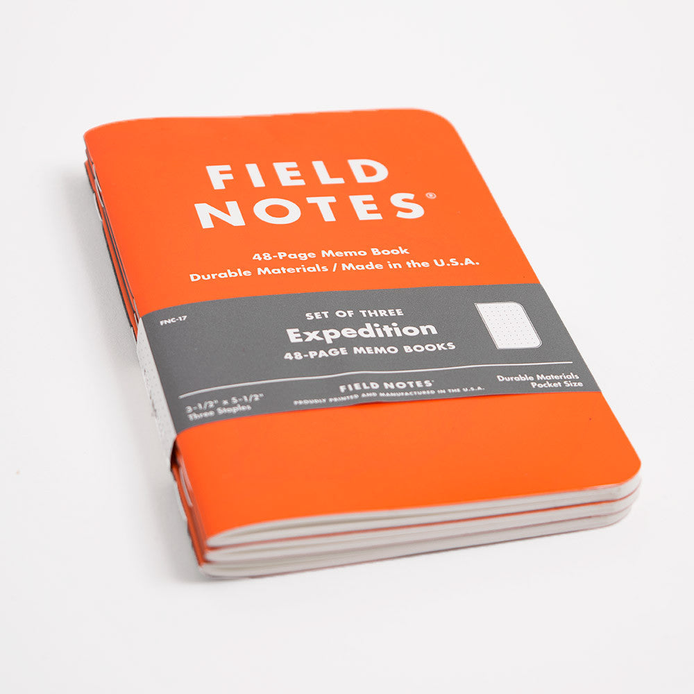 Field Notes 3-pack Notebooks - Expedition Edition - 3
