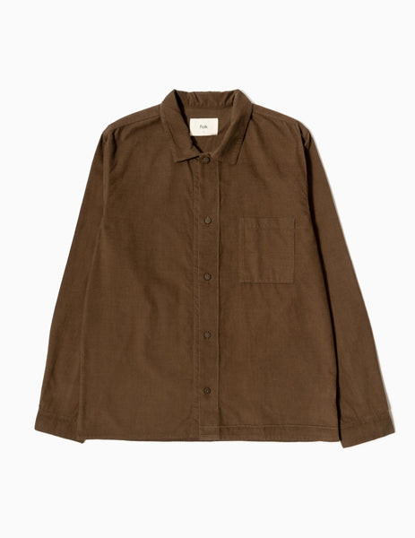 Folk Emboss Shirt - Tobacco