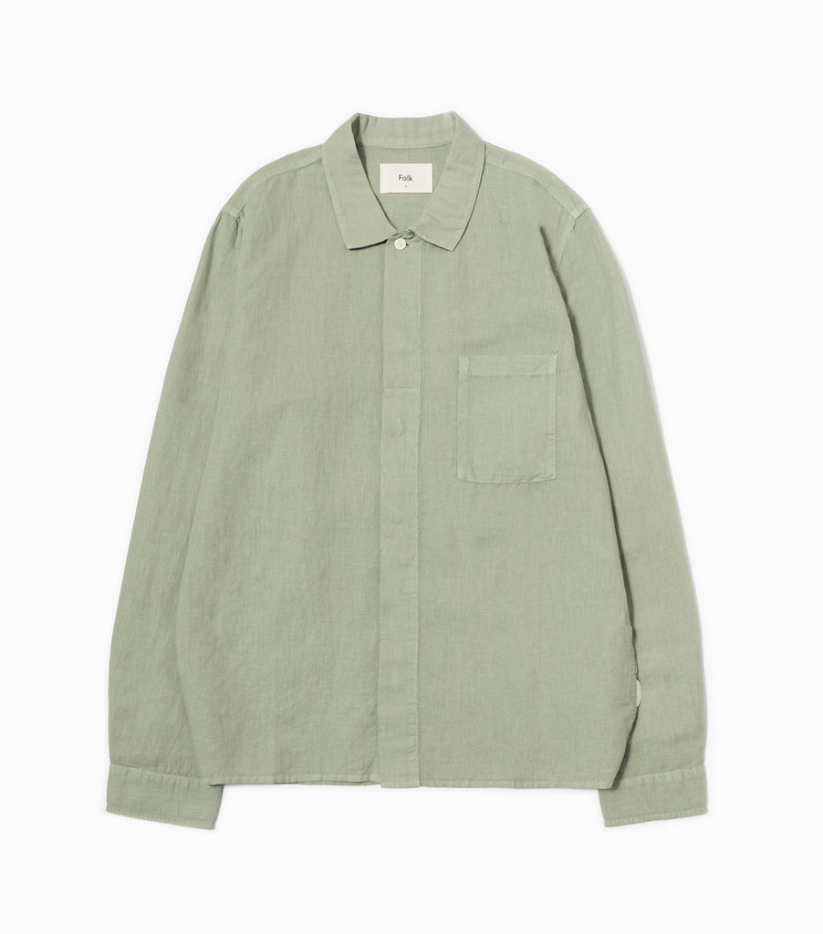 Folk Patch Shirt - Washed Green