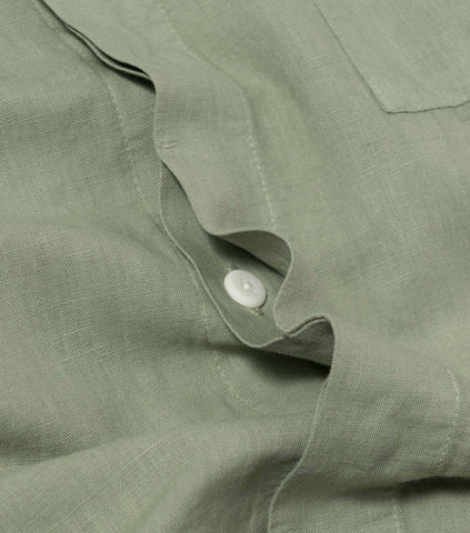 Folk Patch Shirt - Washed Green Jacket - CARTOCON