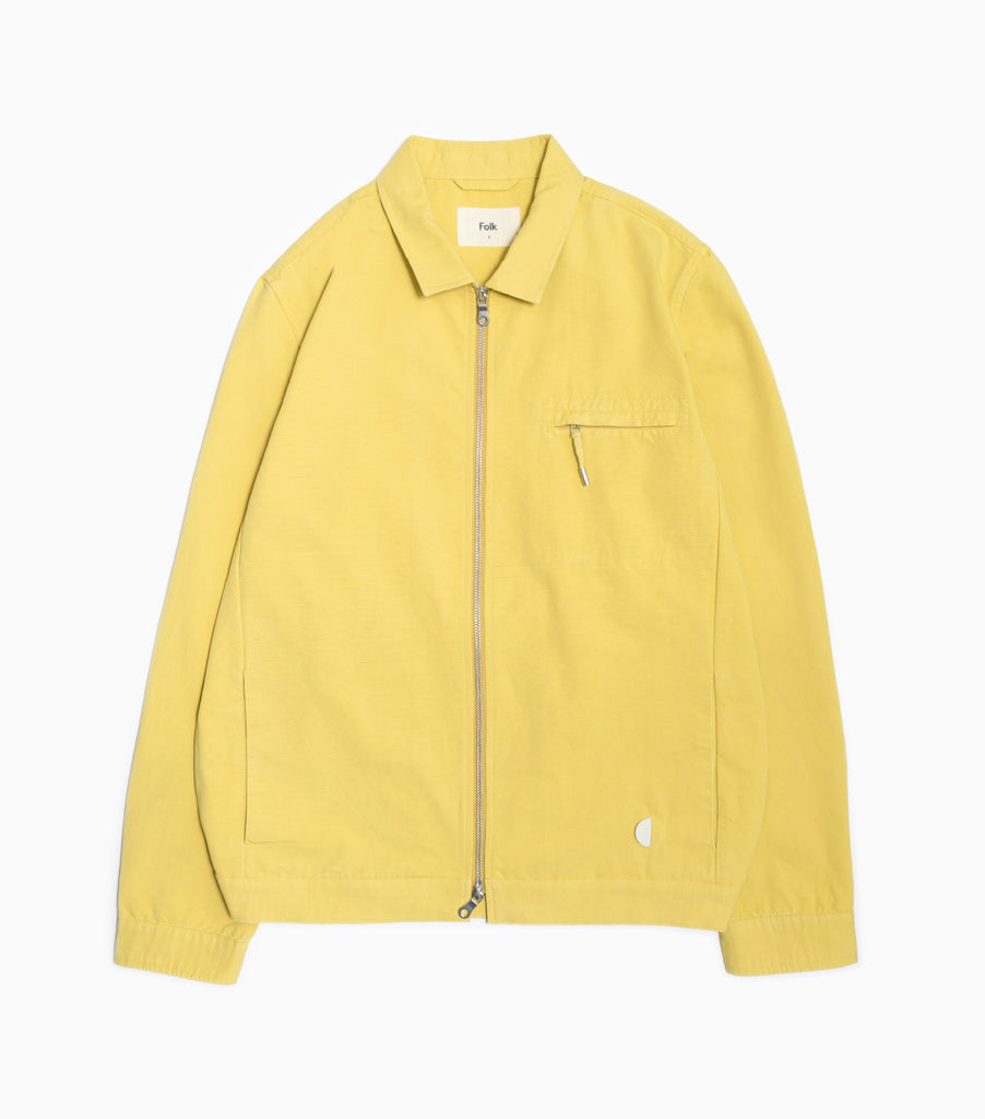 Folk Blouson Boxy Jacket - Straw