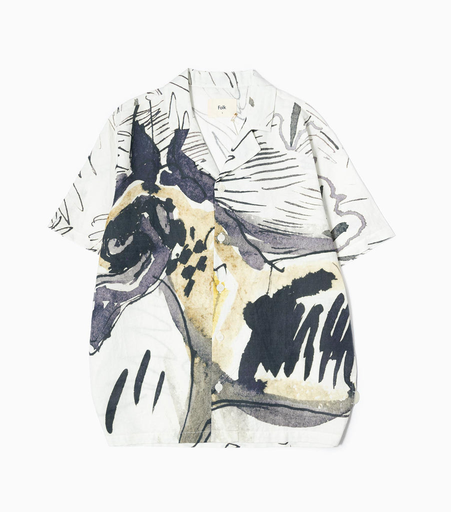 Folk SS Soft Collar Shirt - Orpheus Print