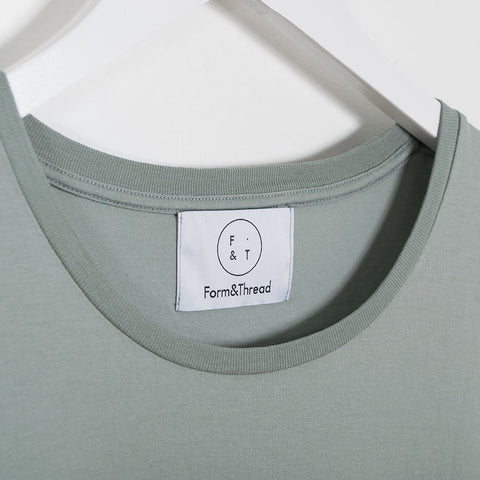 Form & Thread Essential T-Shirt - Grey Sage not listed - CARTOCON