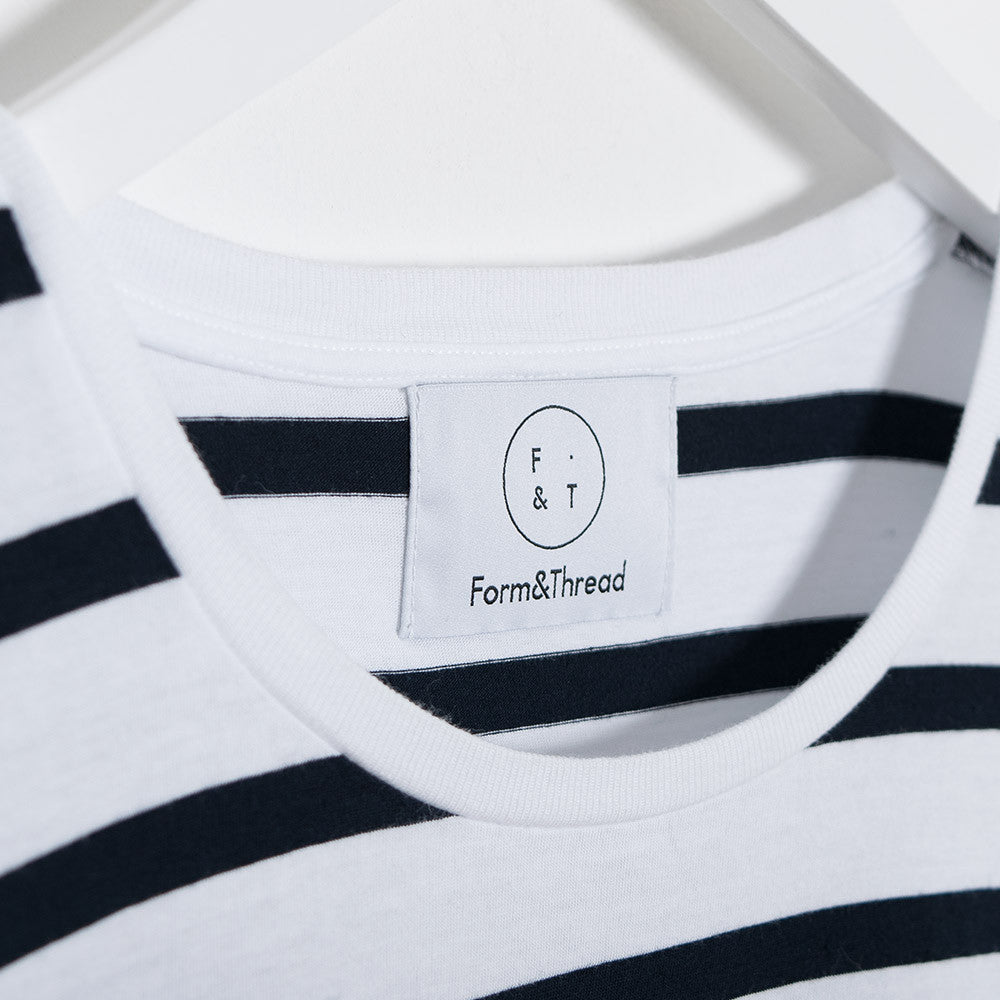 Form & Thread Essential T-Shirt - Breton Stripe - CARTOCON