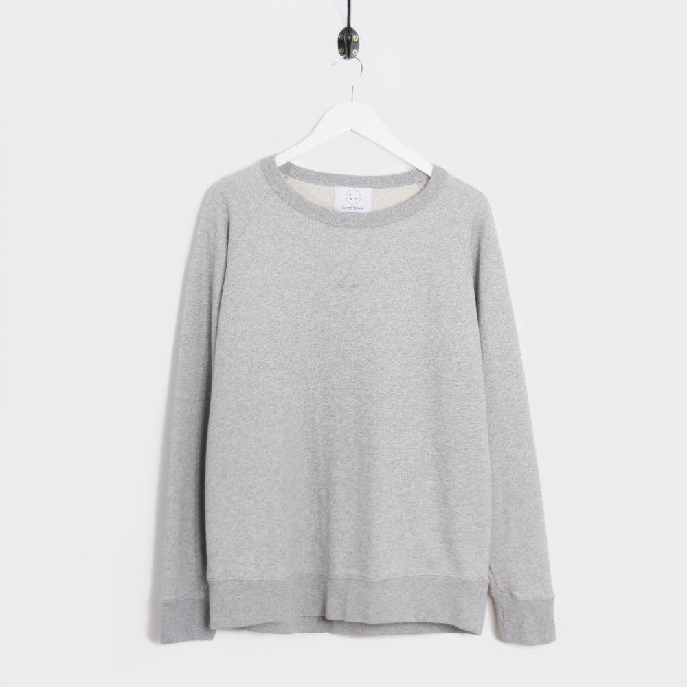 Form & Thread Essential Sweatshirt - Grey Melange Not Listed - CARTOCON