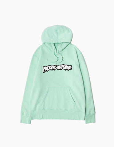 Fucking Awesome Garment Dyed Chenille Logo Hoodie - Seafoam Hoody - CARTOCON