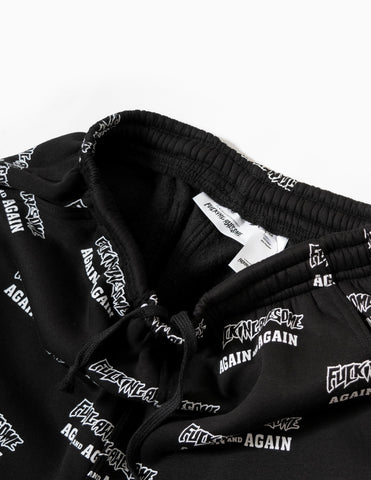 Fucking Awesome Again And Again Sweatpants - White/Black