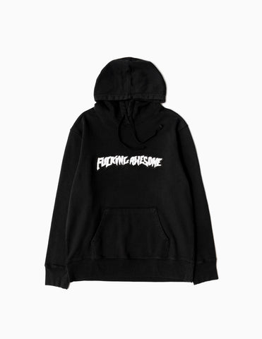 Fucking Awesome Garment Dyed Chenille Logo Hoodie - Anthracite Hoody - CARTOCON