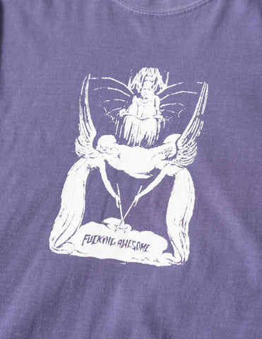 Fucking Awesome Angel Wand T-Shirt - Violet