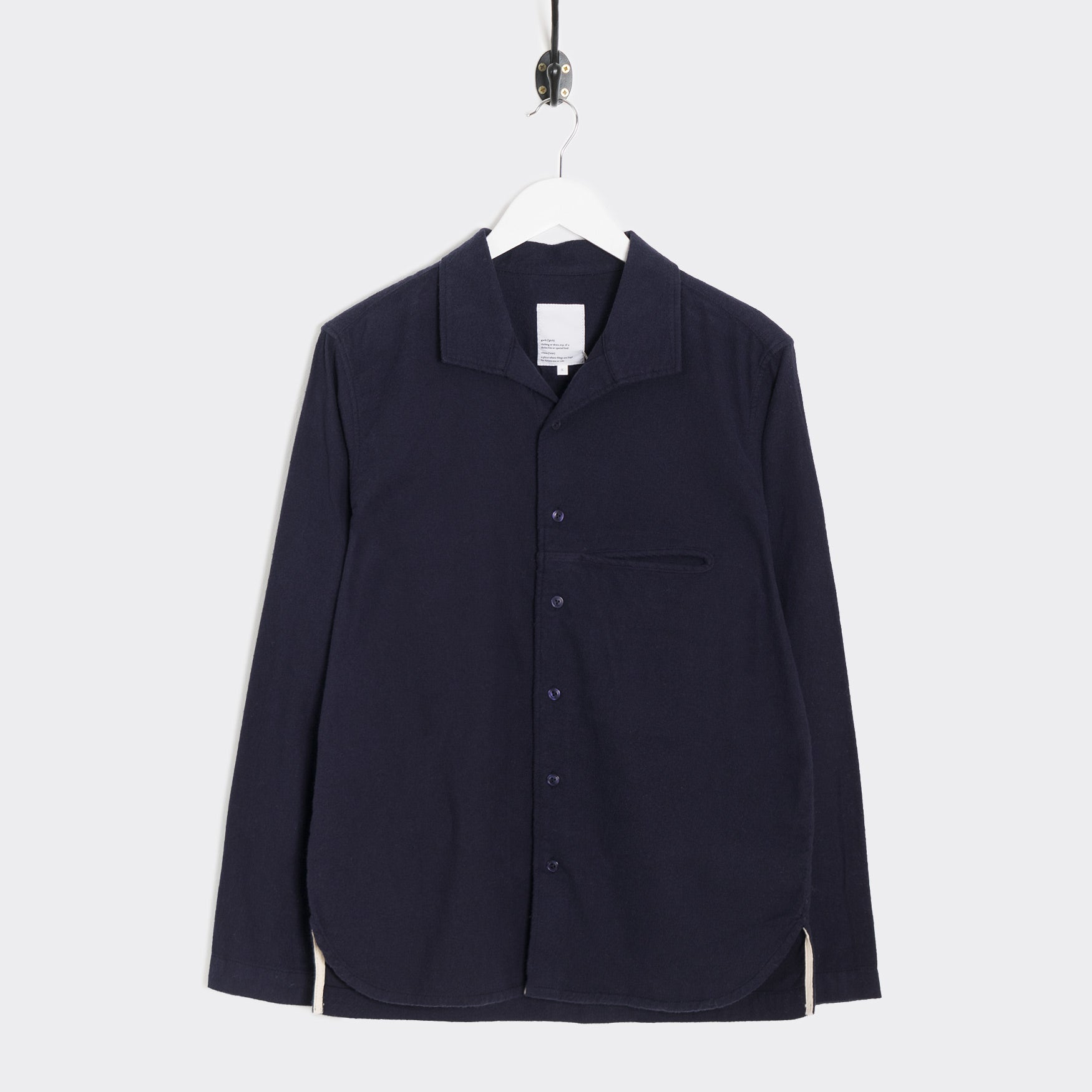 Garbstore Long Sleeve Slacker Shirt - Navy