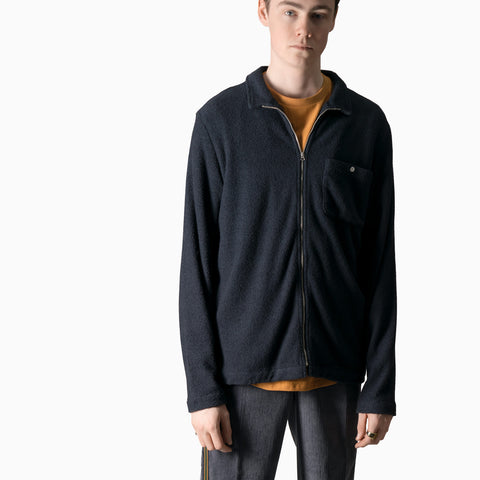 Garbstore Club Zip Up Jacket - Navy Not Listed - CARTOCON