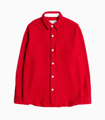 Garbstore Twin Map Wool Boucle Shirt - Red Shirt - CARTOCON