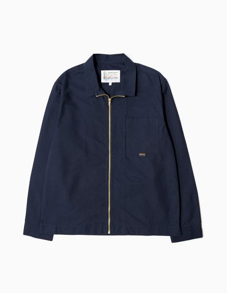 Garbstore Cordura Zip Overshirt - Navy Jacket - CARTOCON