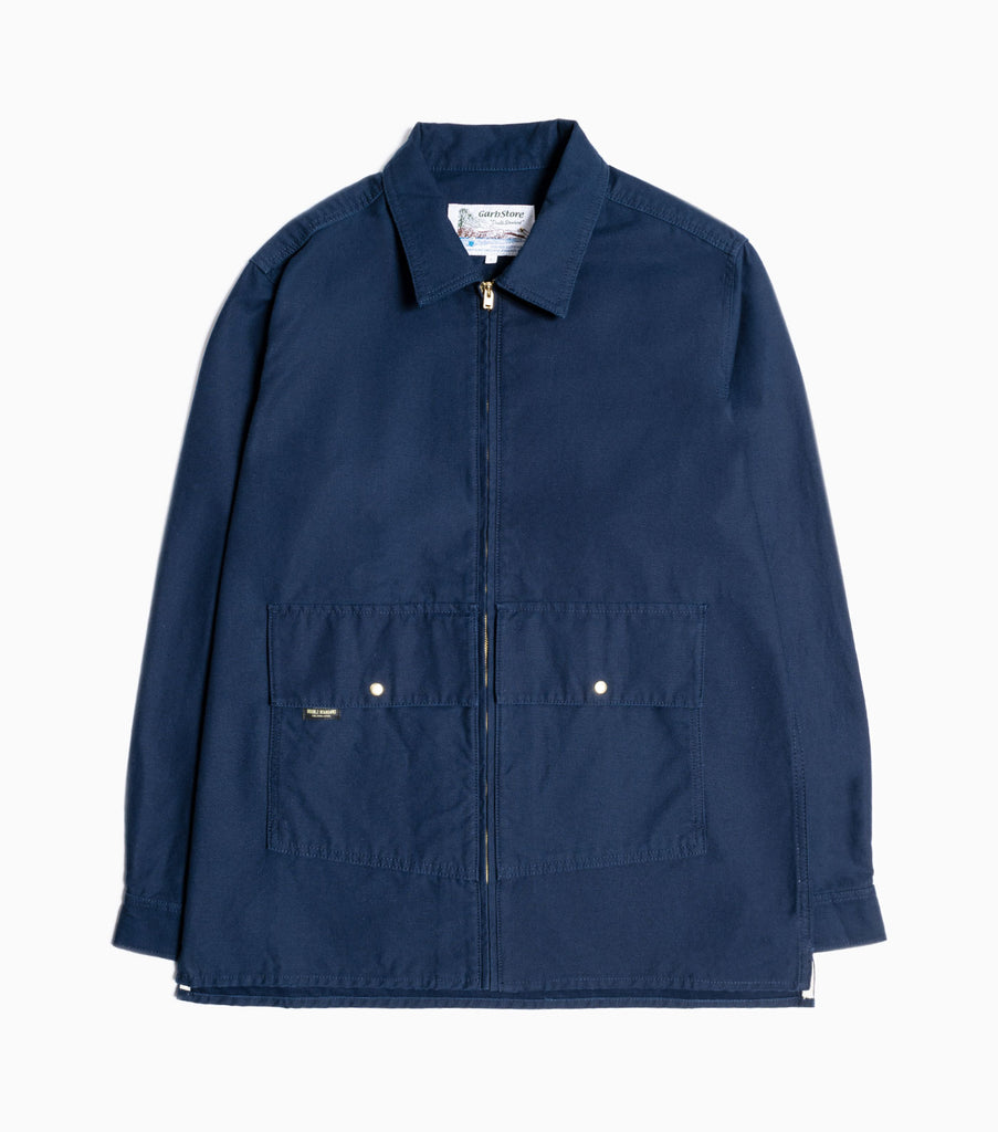 Garbstore Atlas Zip Overshirt - Navy