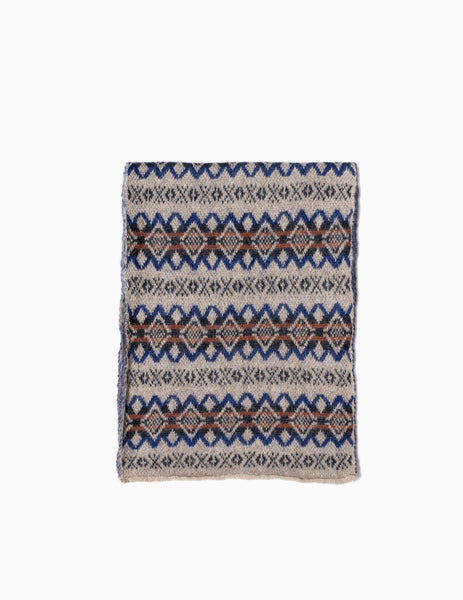Garbstore The English Difference Fair Isle Scarf - Tan