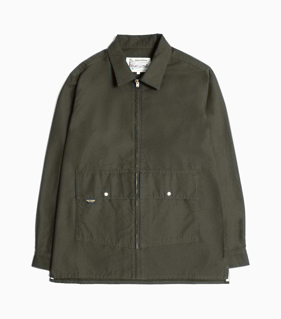 Garbstore Atlas Zip Overshirt - Khaki