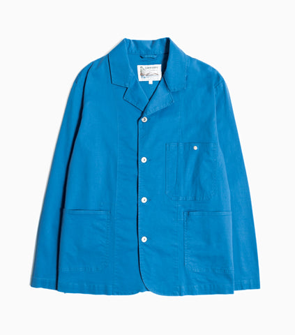 Garbstore Work Jacket - Blue - Japanese Cotton Twill Jacket - CARTOCON