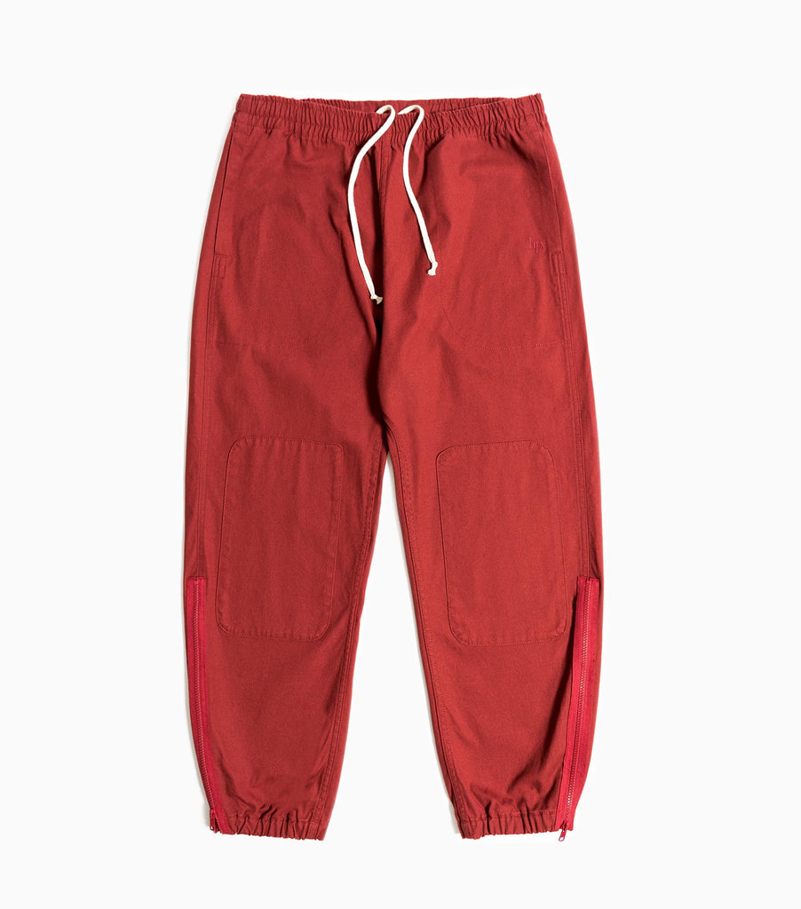 Garbstore Home Party Japanese Canvas Track Pant - Burgundy