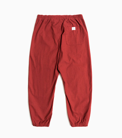 Garbstore Home Party Japanese Canvas Track Pant - Burgundy Trousers - CARTOCON