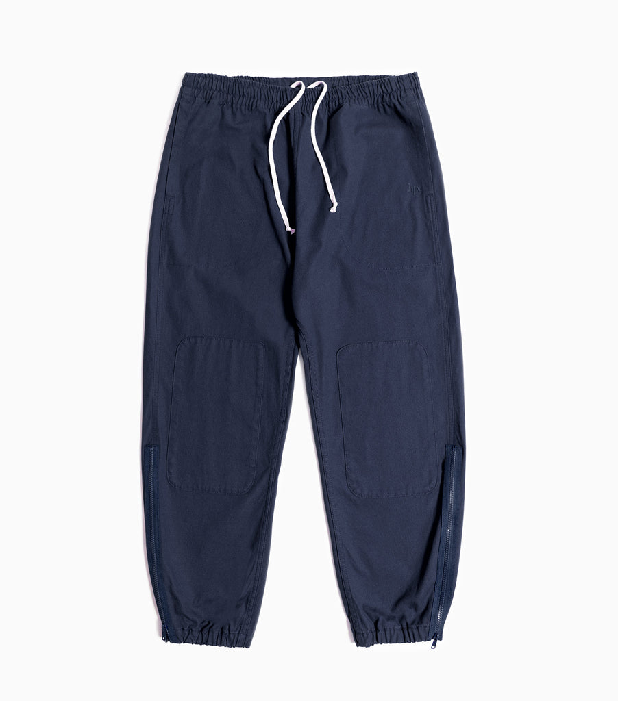 Garbstore Home Party Japanese Canvas Track Pant - Navy Blue