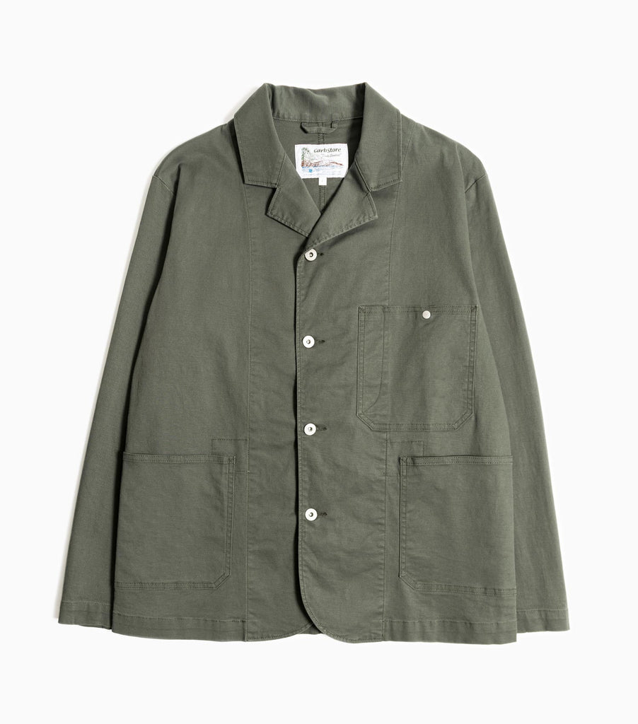 Garbstore Work Jacket - Olive - Japanese Cotton Twill