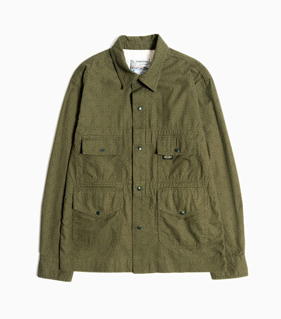 Garbstore Flight Shirt - Khaki - Japanese Stitch