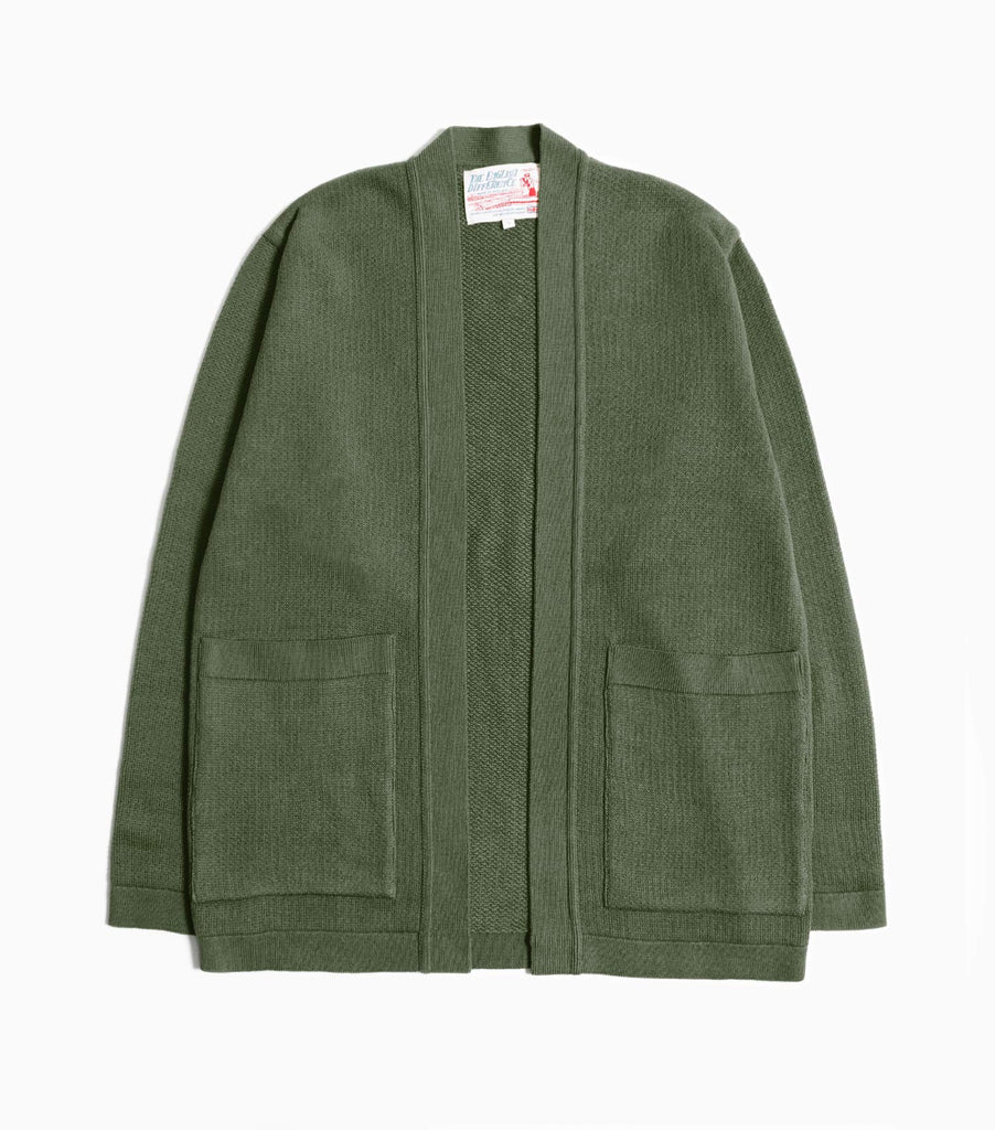 Garbstore The English Difference Kimono Style Cardigan - Olive Green