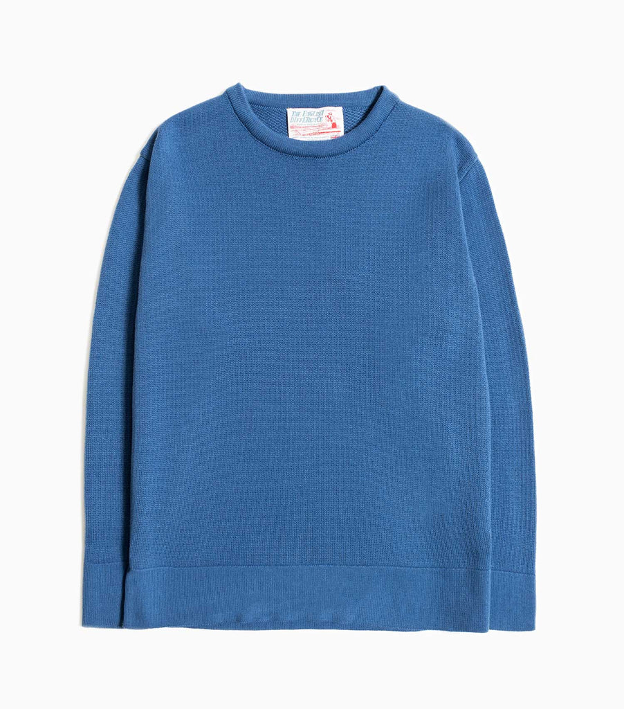 Garbstore The English Difference Crew Neck Jumper - Blue