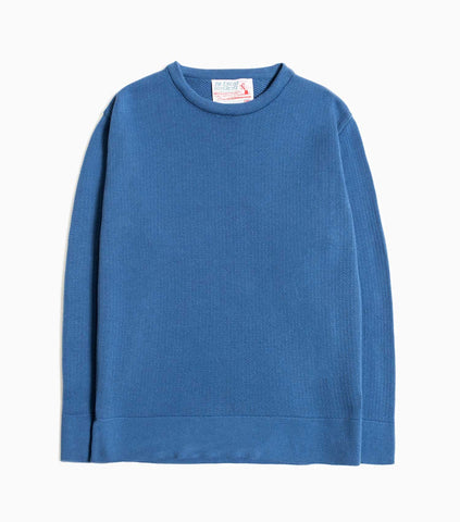 Garbstore The English Difference Crew Neck Jumper - Blue Knitwear - CARTOCON