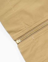 Garbstore Cordura Zip Overshirt - Tan Jacket - CARTOCON