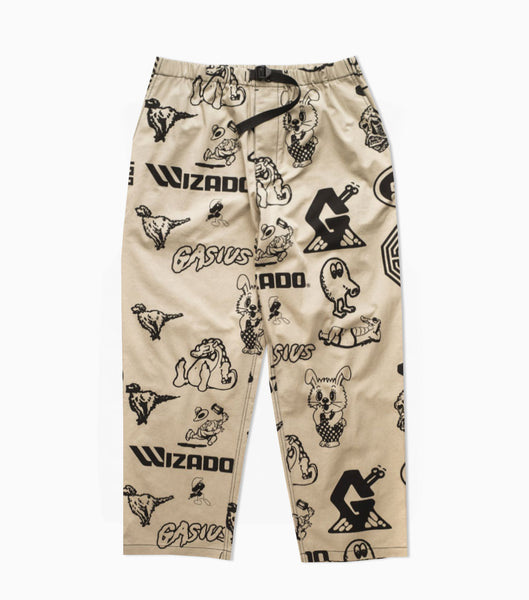 Gasius All Over Jehova Pants - Khaki Trousers - CARTOCON
