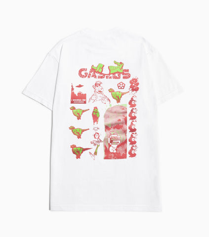 Gasius Duck Rock T-Shirt - White T-Shirt - CARTOCON