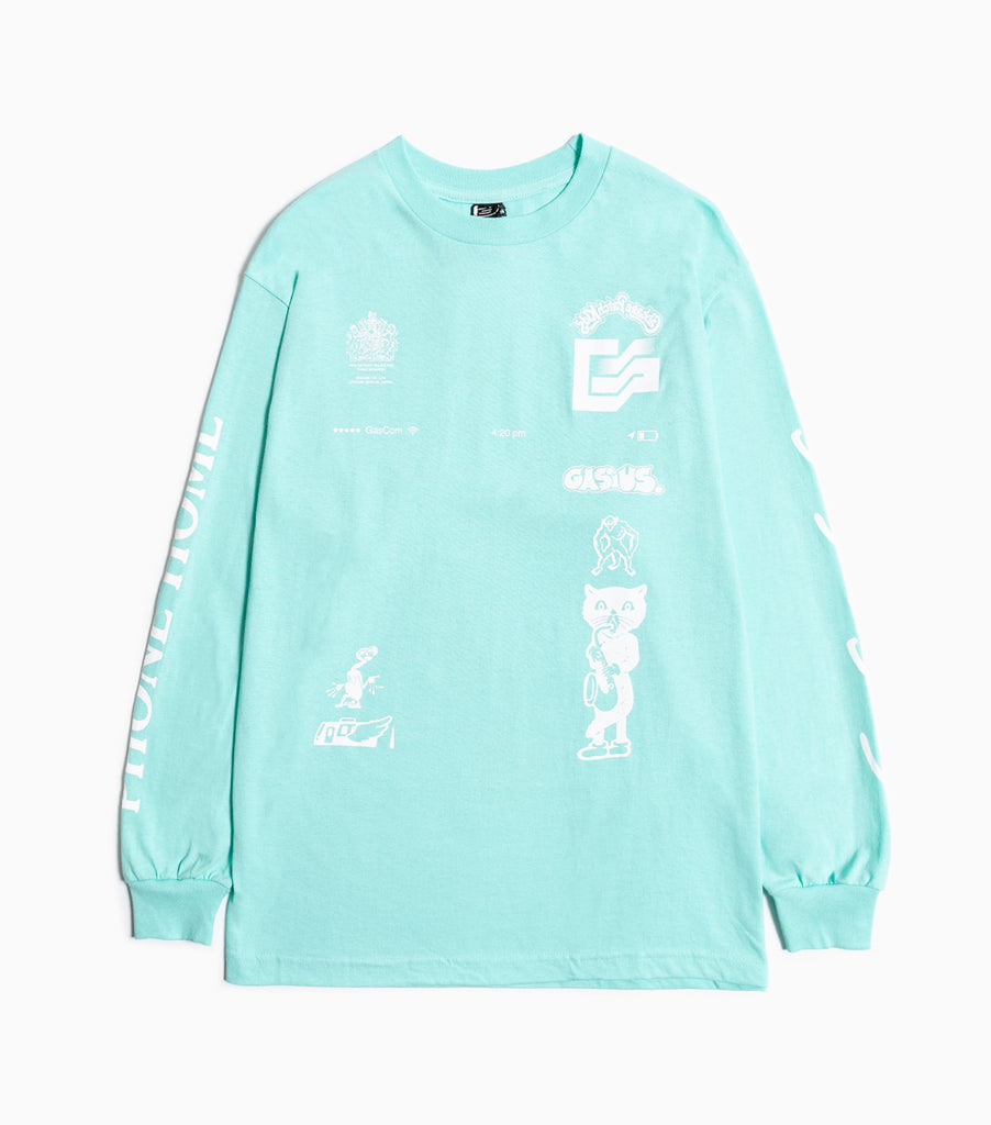 Gasius The Extra Gasius Long Sleeve T-Shirt - Green