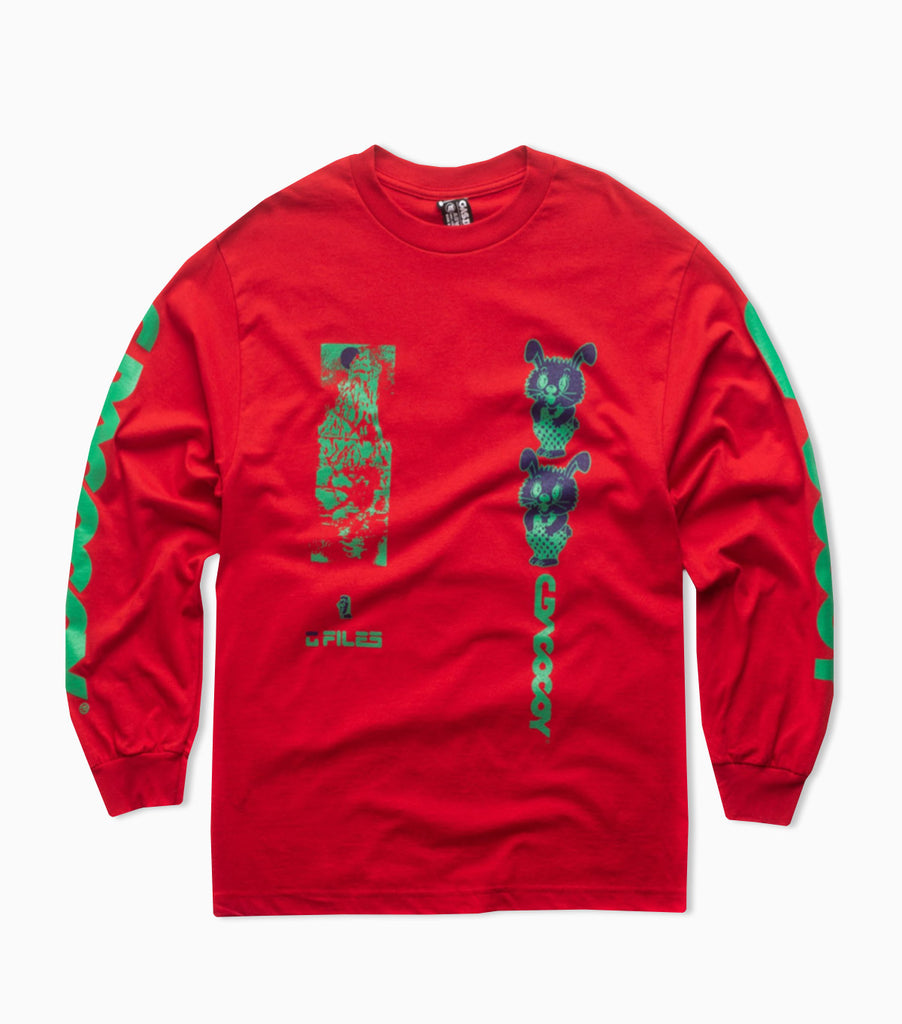 Gasius All Over Jehova Long Sleeve T-Shirt - Red