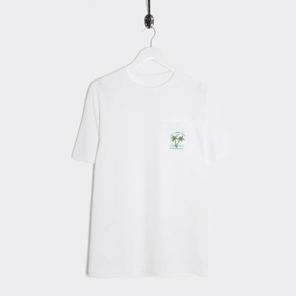 Good Worth Lazy Days Pocket T-Shirt - White T-Shirt - CARTOCON