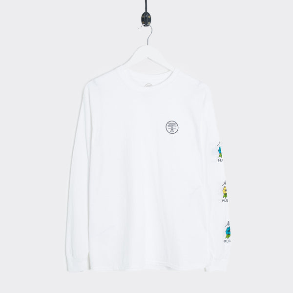 Good Worth Always A Pleasure Longsleeve - White