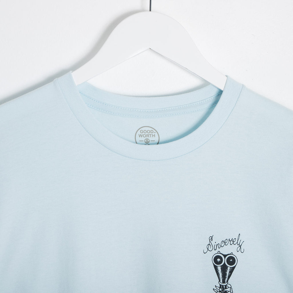 Good Worth Sincerely Yours T-Shirt - Light Blue