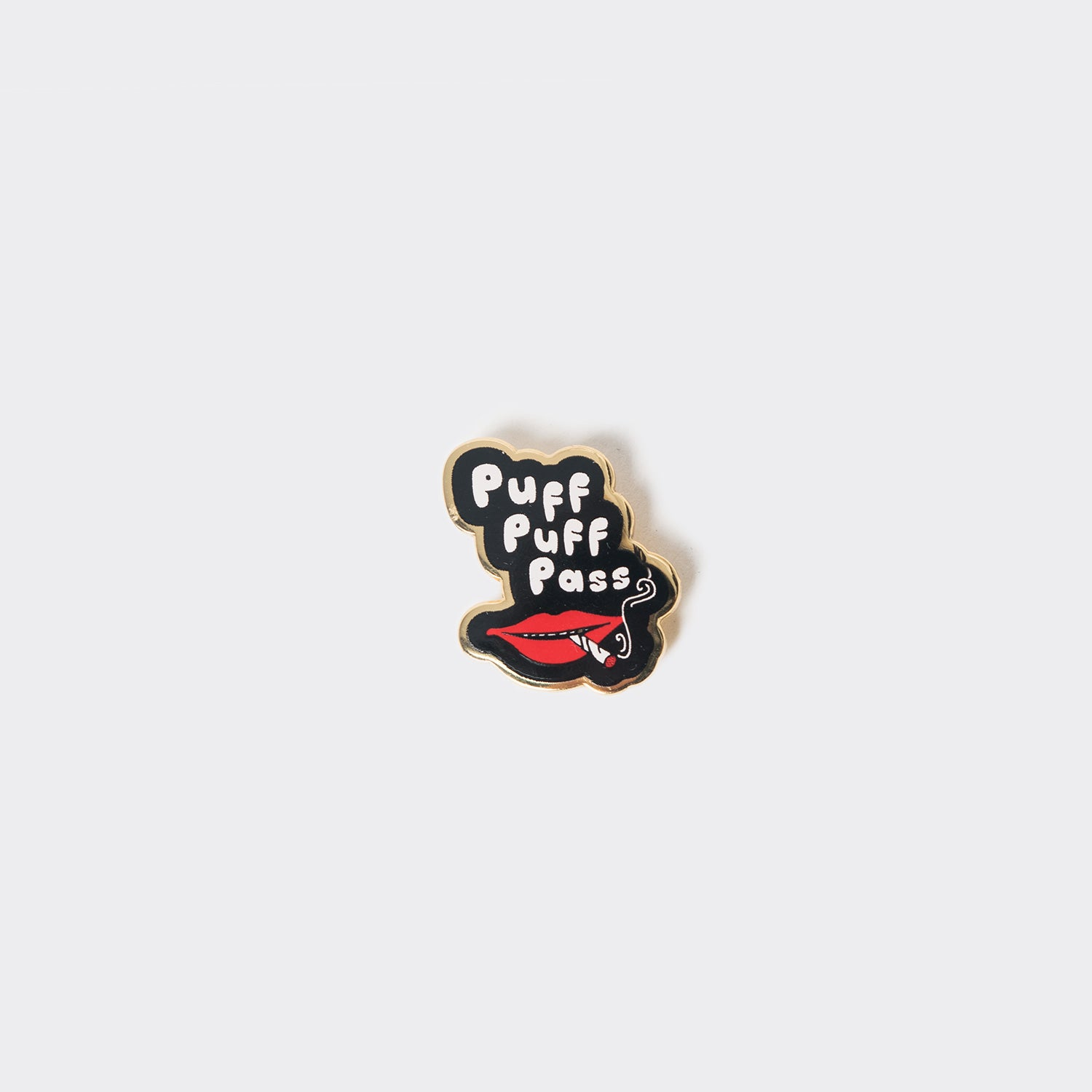 Good Worth Puff Puff Pass Pin Badge