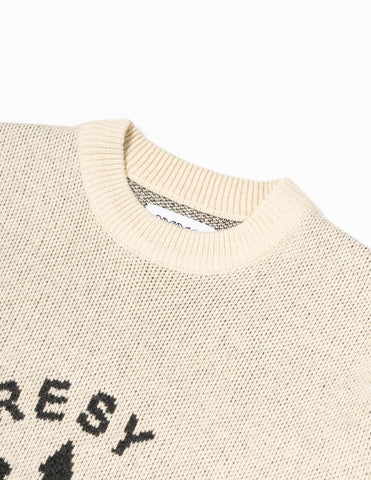 Heresy Chaos Knitted Jumper - Natural