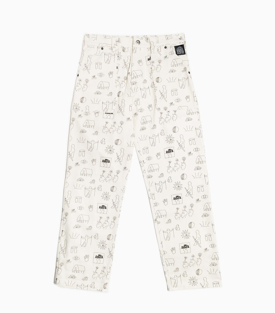 Heresy 12oz Printed Canvas Solar Fatigue Trousers - Natural