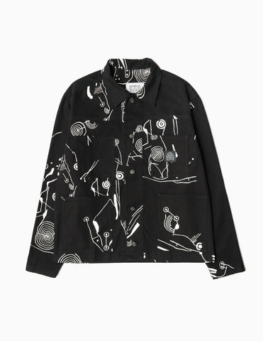 Heresy Cave Work Jacket - Black/White Jacket - CARTOCON