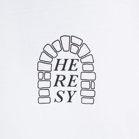 Heresy Arch T-Shirt - White Not Listed - CARTOCON